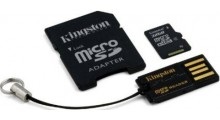 Kingston 16GB 3 i 1Minnekort, Mikro-SD, SD, USB, Mobility Kit, Class 10