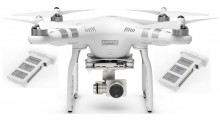 DJI Phantom 3 Advanced, FPV, GPS, FULL-HD Kamera + Ekstra Batteri RTF
