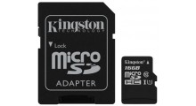 Kingston 2 i 1 16GB Mikro SD-minnekort og SD Adapter Class 10