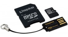 Kingston 4 i 1 32GB Mikro-SD, SD-Adapter, USB Adapter og Minnekortleser Class 10