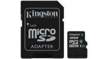 Kingston 2 i 1 32GB Mikro SD-minnekort og SD Adapter Class 10