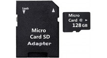2 i 1 128GB Mikro SD-minnekort og SD Adapter Class 10